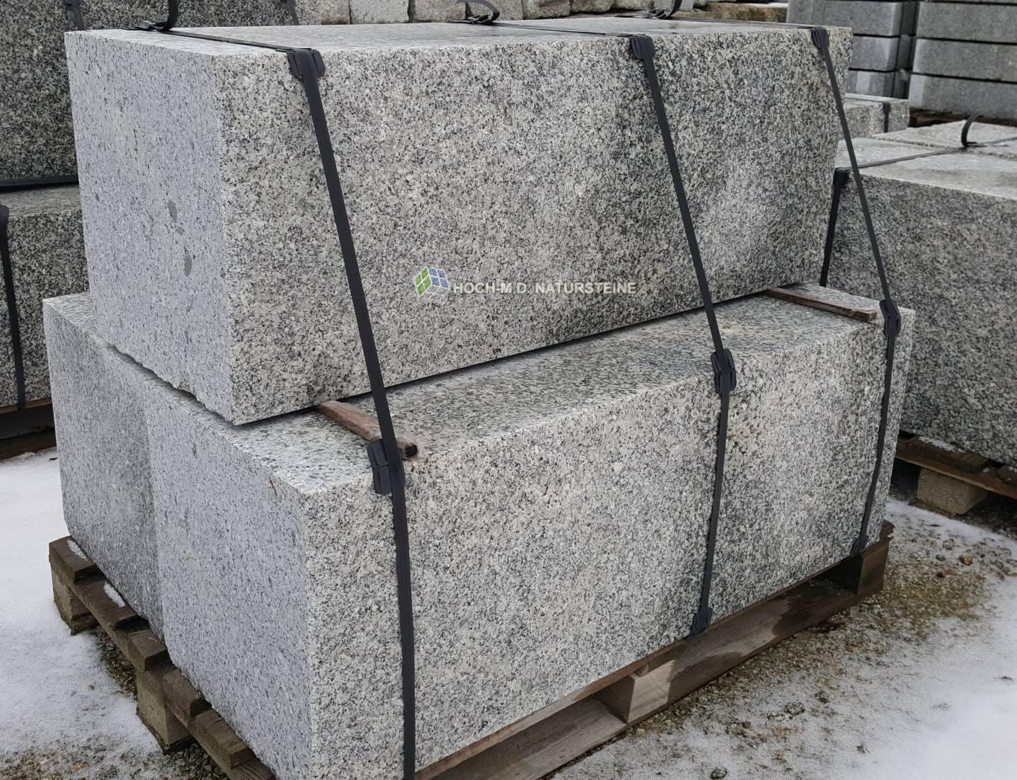 polen granit mauersteine grau 20x20x40. Black Bedroom Furniture Sets. Home Design Ideas