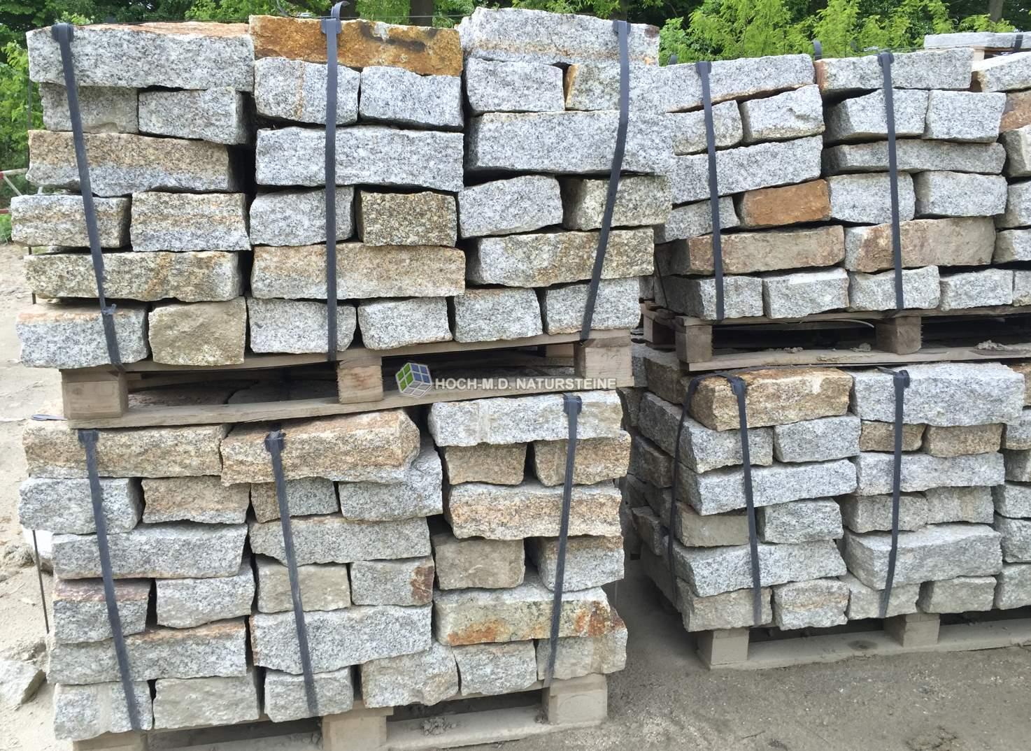 Granit Mauersteine 15*20*40 Grau Gehwegplatten & Steine Terrassen- & Gehwegmaterialien