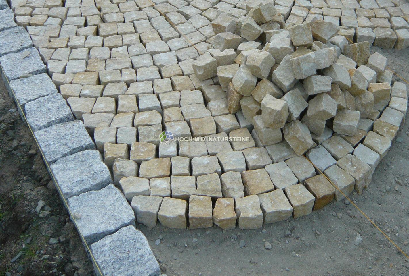 sandsteinpflaster aus quarzsandstein 100% frost- und